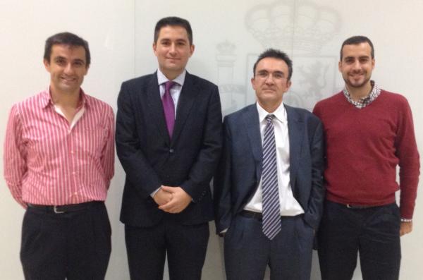 De izquierda a derecha, Enrique Crespo, Miguel Ángel Rodríguez, Emilio García, Javier Morales